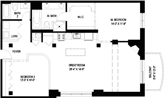 1330 W Monroe Floorplan - 07 Tier*
