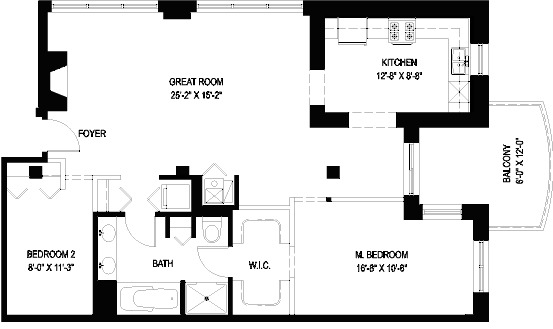 1330 W Monroe Floorplan - 10 Tier*