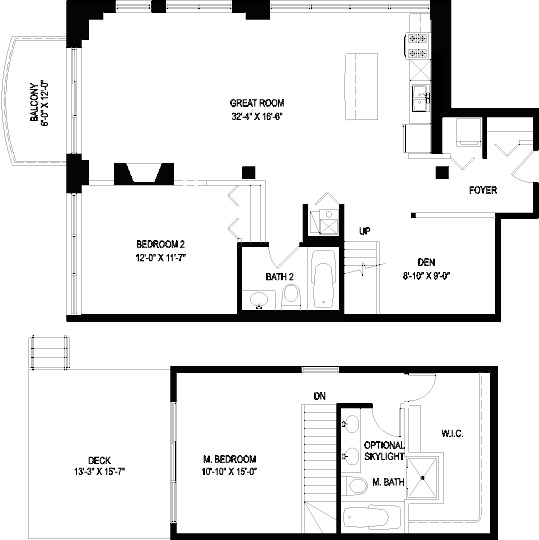 1330 W Monroe Floorplan - 11 Tier*
