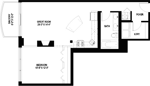 1330 W Monroe Floorplan - 15 Tier*