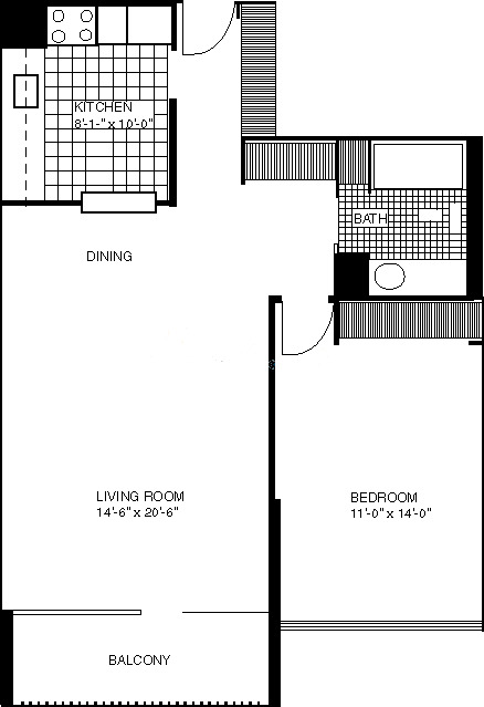1636 N Wells Floorplan - 03, 05, 09, 11 Tier