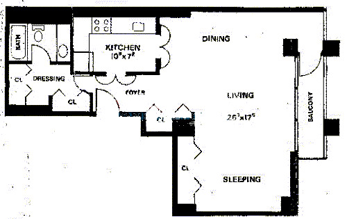 1030 N State Floorplan - G Tier
