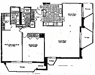 6007 N Sheridan Floorplan - Colony A & B Tiers