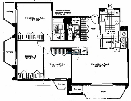 6007 N Sheridan Floorplan - Harborview J & K Tiers