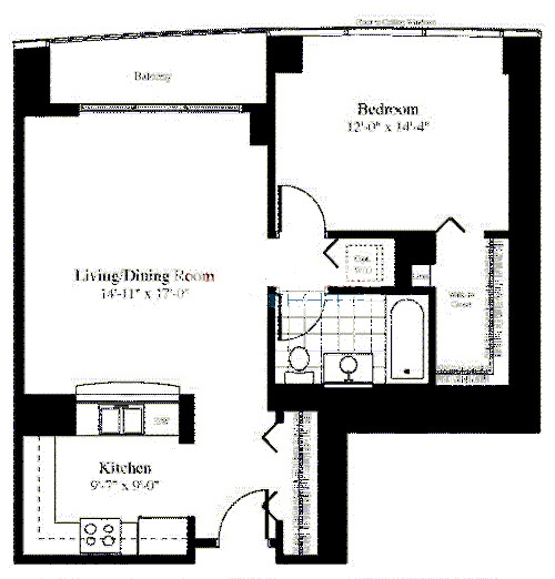 201 N Westshore Floorplan - The Catalpa 03 Tier*