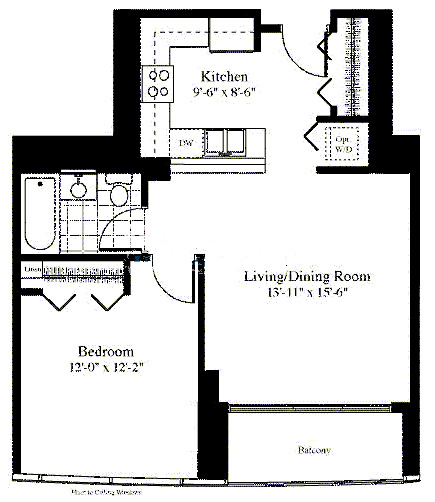 201 N Westshore Floorplan - The Francais 06 Tier*
