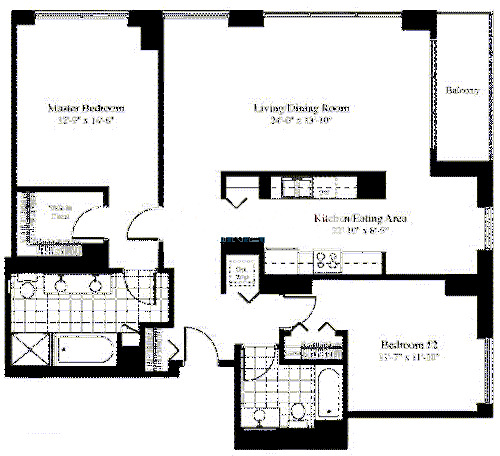 201 N Westshore Floorplan - The Garfield 07 Tier