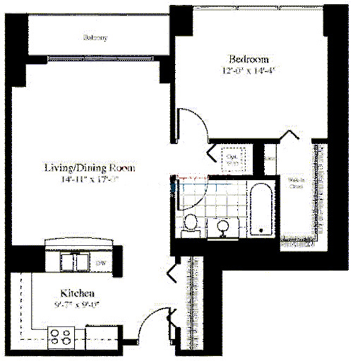 201 N Westshore Floorplan - The Illustrious*