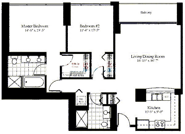 201 N Westshore Floorplan - The Julia*