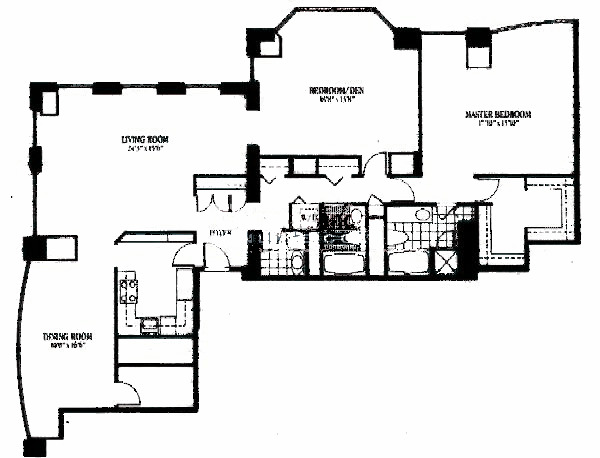 100 E Huron Floorplan - 04 Tier*