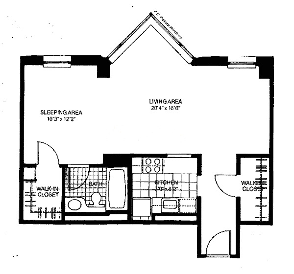 401 E Ontario Floorplan - Convertible*