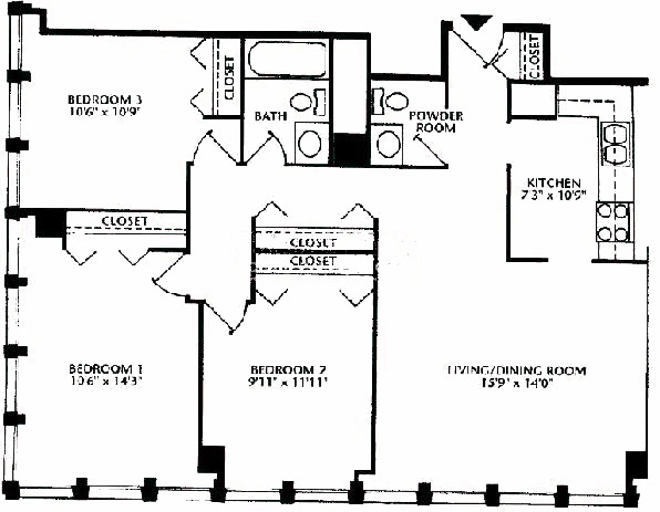 444 W Fullerton Floorplan - 08 Tier*