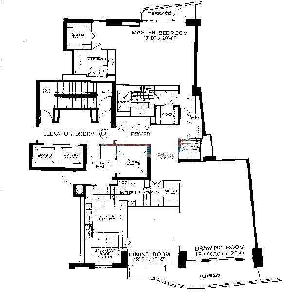 1040 N Lake Shore Drive Floorplan - B1 Tier*