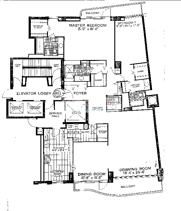 1040 N Lake Shore Drive Floorplan - B2 Tier*