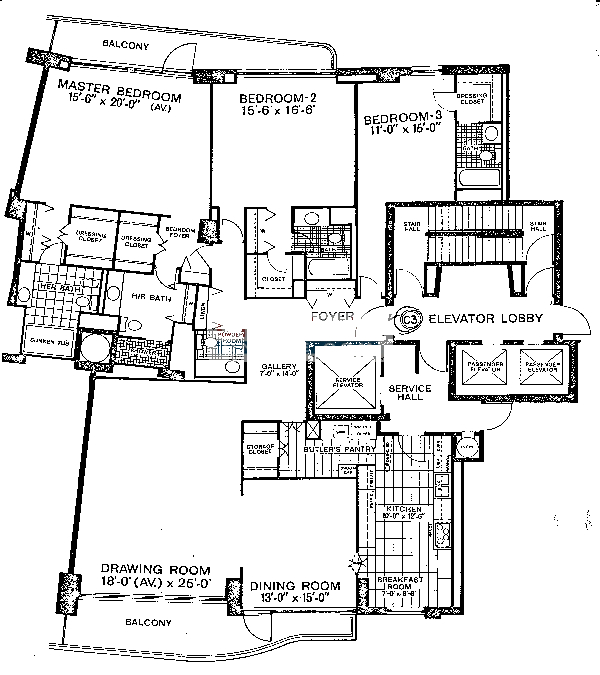 1040 N Lake Shore Drive Floorplan - C3 Tier