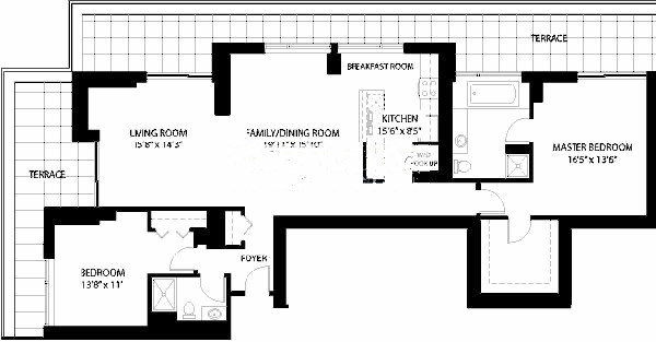 1160 S Michigan Floorplan - Penthouse 4303 Tier*