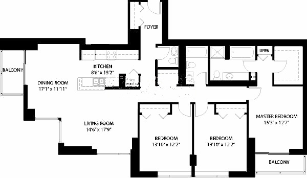 1160 S Michigan Floorplan - Tower 02 Tier