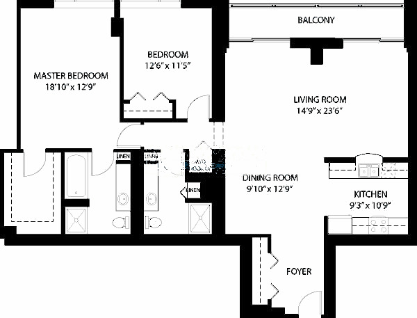 1160 S Michigan Floorplan - Tower 04 Tier