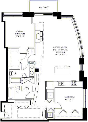 1201 W Adams Floorplan - 04 Tier*