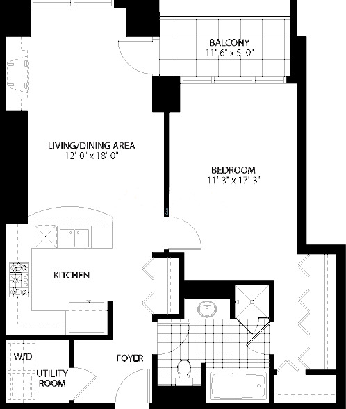 160 E Illinois St Floorplan - C Tier*