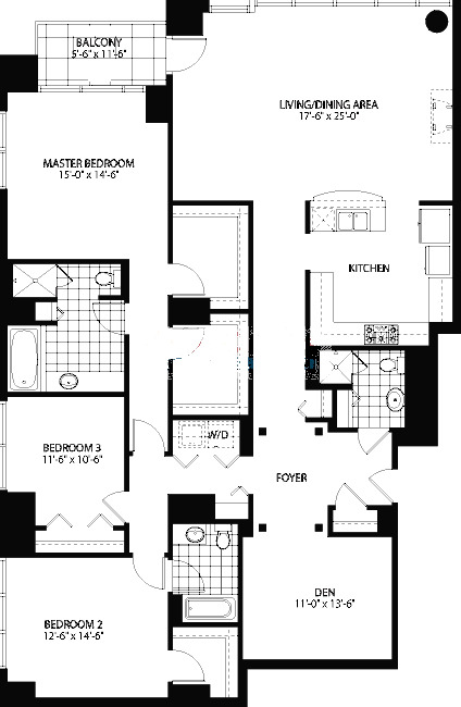 160 E Illinois St Floorplan - D Tier*