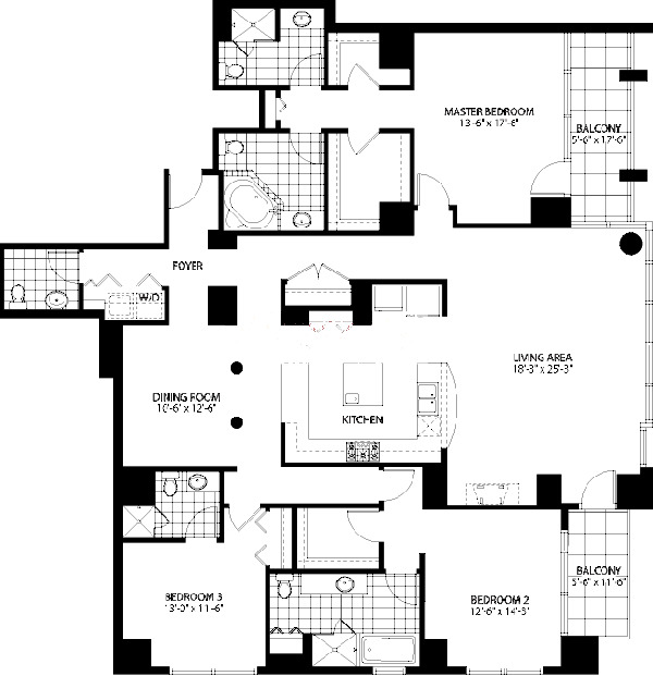 160 E Illinois St Floorplan - E Tier*