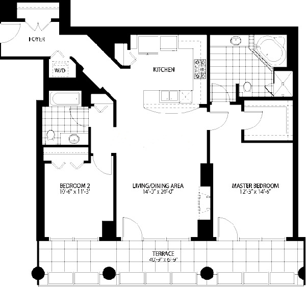 160 E Illinois St Floorplan - 01 Tier*