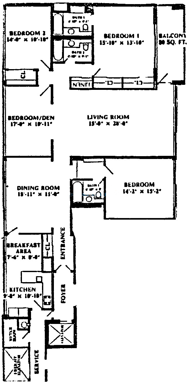1 E Schiller Ave Floorplan - 14D, 17D Tier*