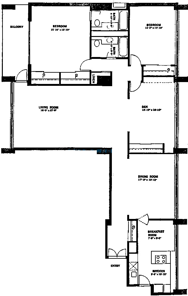 1 E Schiller Ave Floorplan - 7A Tier*