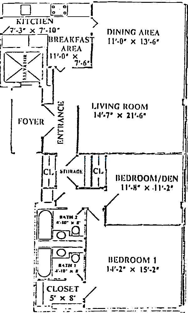 1 E Schiller Ave Floorplan - B, C Tier