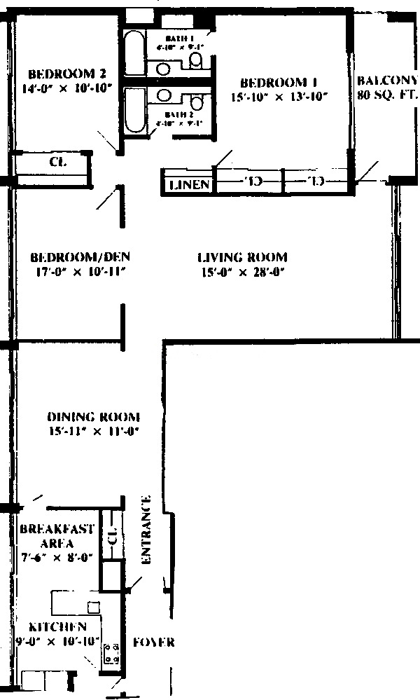 1 E Schiller Ave Floorplan - 9D Tier*
