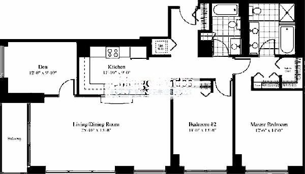 201 N Westshore Floorplan - The Batavia 02 Tier
