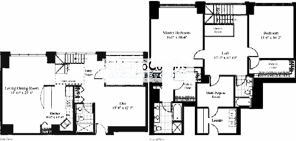 201 N Westshore Floorplan - The Kaulani 03 Tier*