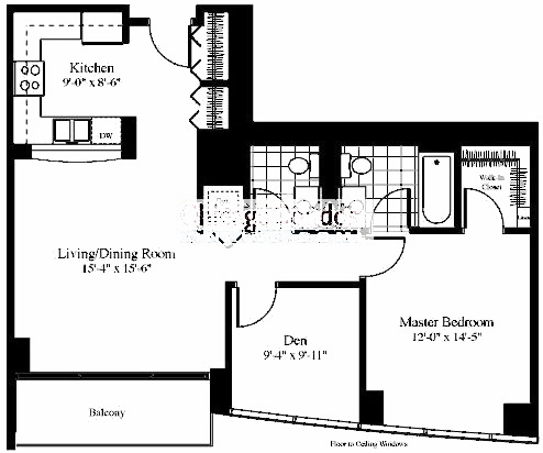 201 N Westshore Floorplan - The Discovery 04 Tier