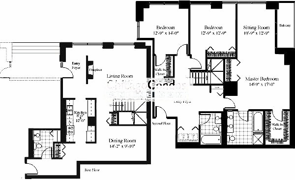 201 N Westshore Floorplan - The Mystique 07 Tier*