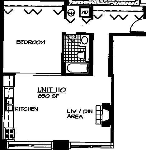 226 N Clinton Floorplan - 10 Tier