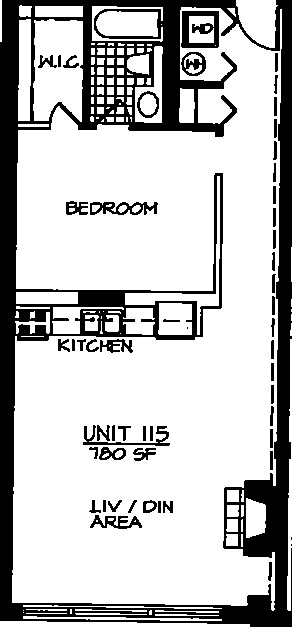 226 N Clinton Floorplan - 15 Tier*