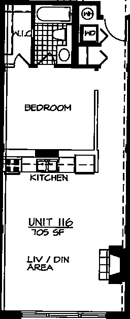226 N Clinton Floorplan - 16 Tier*