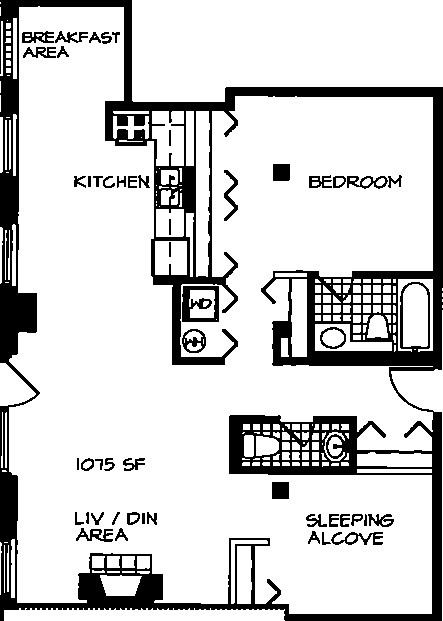 226 N Clinton Floorplan - 27 Tier*