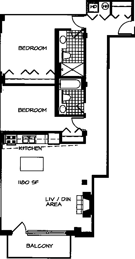 226 N Clinton Floorplan - 28 Tier*