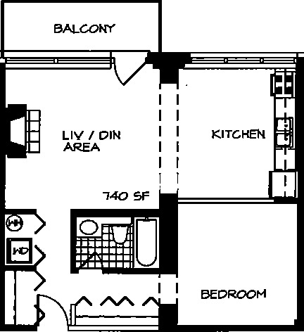 226 N Clinton Floorplan - 06 Tier*