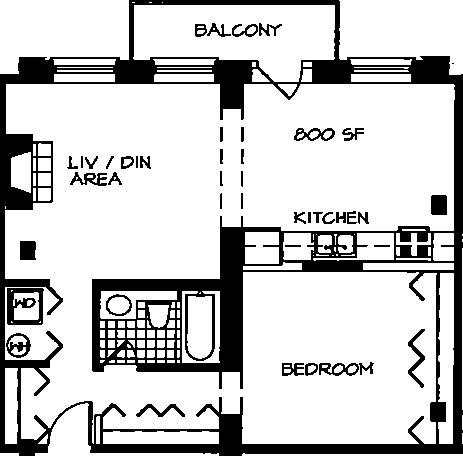 226 N Clinton Floorplan - 11 Tier*