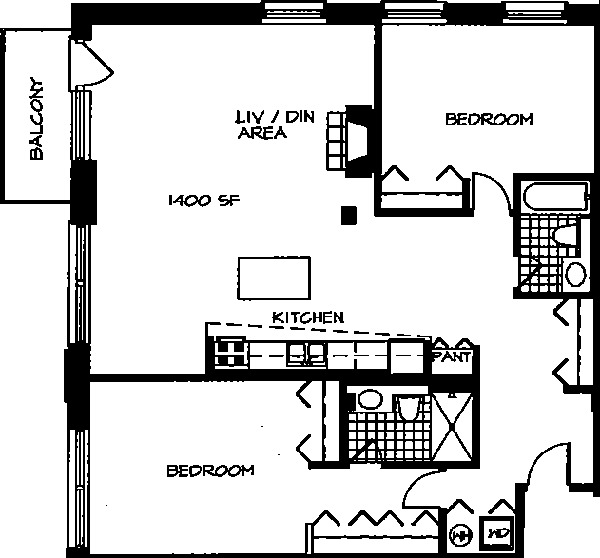 226 N Clinton Floorplan - 14 Tier*