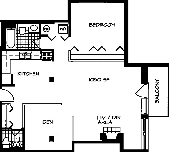 226 N Clinton Floorplan - 24 Tier*