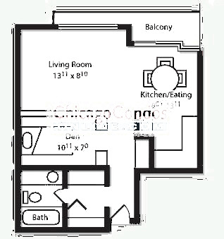 2600 N Hampden Ct Floorplan - C, D, E, F with Den Tiers