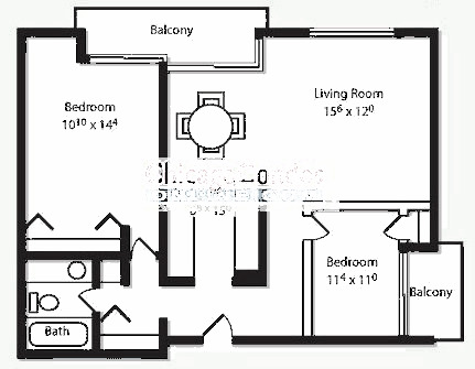 2600 N Hampden Ct Floorplan - J, K Tiers