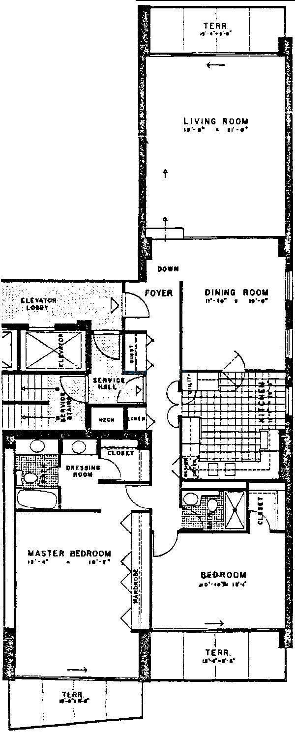 3470 N Lake Shore Drive Floorplan - A, C Tiers