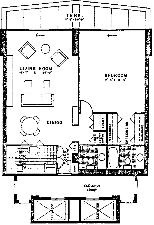 3470 N Lake Shore Drive Floorplan - B Tier