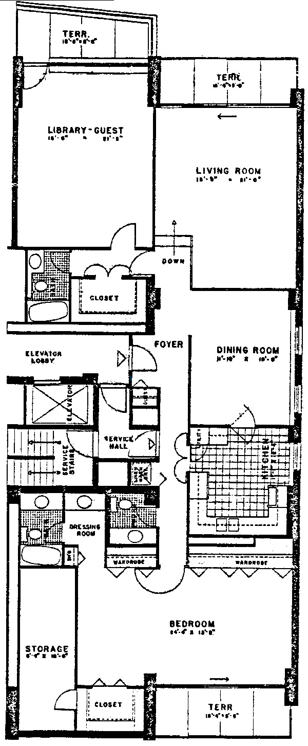 3470 N Lake Shore Drive Floorplan - J, H Tiers*