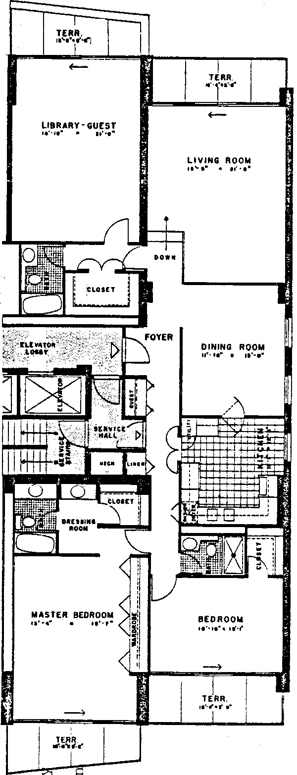 3470 N Lake Shore Drive Floorplan - E, D Tiers*